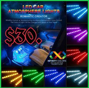🚨🔥NEW RBG LED CAR INTERIOR LIGHTING KIT W/APP CONTROL! PLUG &PLAY!🔥🚨 for Sale in Ontario, CA
