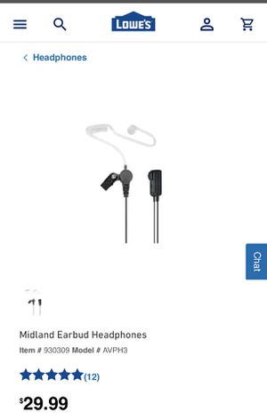 New midland earbud headphones for Sale in Modesto, CA