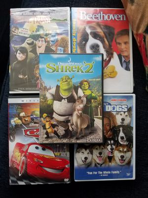 Shrek 2...cars...snow dogs...Beethoven 1 and 2..and hotel transylvania dvds for Sale in Redondo Beach, CA