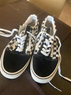 White and black vans/ size 9.5 for Sale in Miami, FL