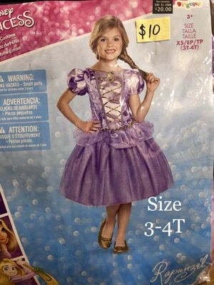 NEW Rapunzel Halloween Costume size Toddler 3-4T (LAST ONE!) for Sale in Phoenix, AZ