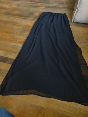 Long sheer black skirt with short black slip for Sale in Vancouver, WA