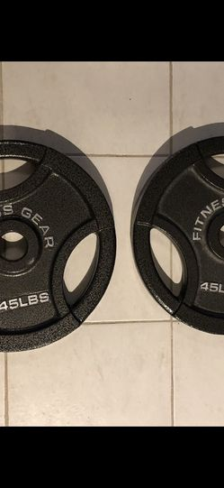 Pair Of 45lb Olympic Weights for Sale in Palisades Park,  NJ
