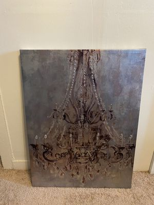 Large wall picture of chandelier for Sale in Arvada, CO