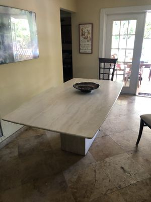 Travertine dining room table and chairs for Sale in Ocean Ridge, FL
