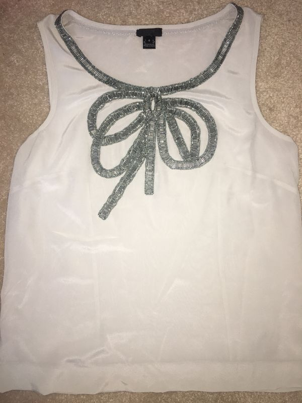 J. Crew embellished Bow Tank Top