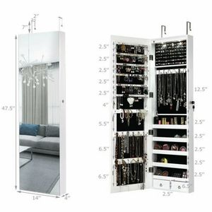 New Lockable Storage Jewelry Cabinet with Frameless Mirror for Sale in Hacienda Heights, CA