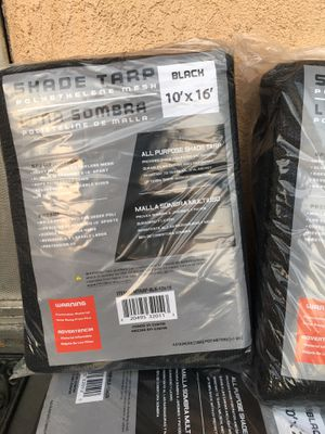 Black Mesh Shade Tarp 10'x16' for Sale in Los Angeles, CA