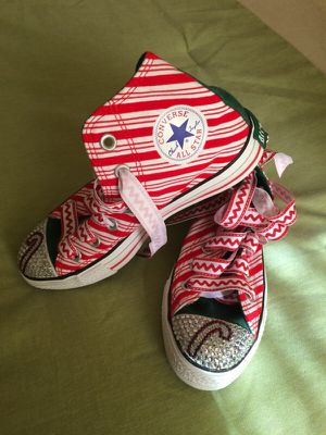 Converse Swarovski sneakers sz 6 for Sale in Odenton, MD