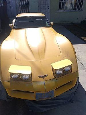 1981 Corvette t-top 2door yellow buy as is ... for Sale in Los Angeles, CA