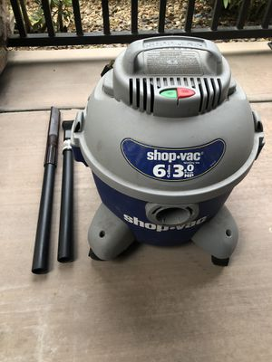 Shop Vac 3.0 Hp 6 Gallon for Sale in Las Vegas, NV