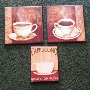 (Pending)3 wood Coffee Plaques for Sale in Milton, FL