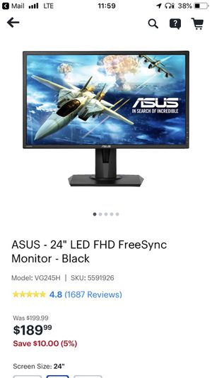 Asus 24 inch Monitor for Sale in Chicago, IL