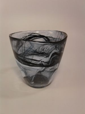 Following Black Wysp Art Glass Tealight Candle Holder for Sale in Peoria, AZ