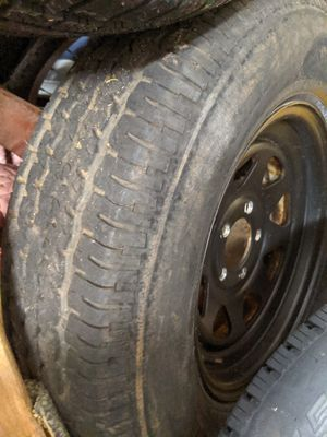 """15"""" TRAILER TIRE W/RIM. Use as a Great Spare tire or right away for Sale in Greer, SC"""