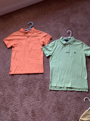 2 shirts orange and green /polo and Calvin Klein's size 8 $10 each for Sale in District Heights, MD