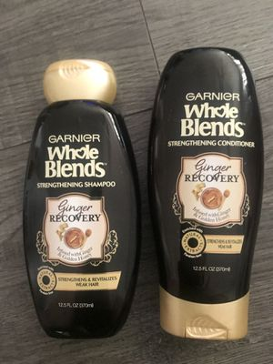 Garnier whole blends ginger recovery shampoo and conditioner set for Sale in San Bernardino, CA