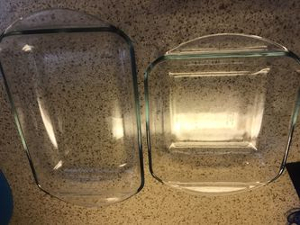 2 glass oven safe bakeware for Sale in Houston,  TX