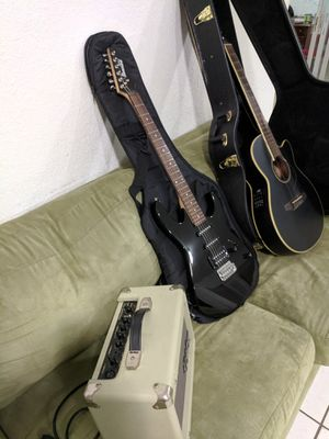 Ibanez electric guitar, Acoustic-Electric, and amp for Sale in Pompano Beach, FL