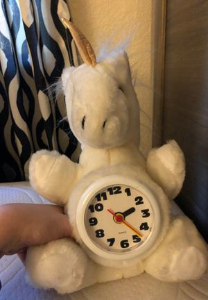 unicorn stuffed animal clock for Sale in Fair Oaks, CA