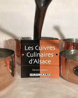 Baumalu Copper Cookware Noble Medal 5 Pan Set for Sale in Santa Ana, CA