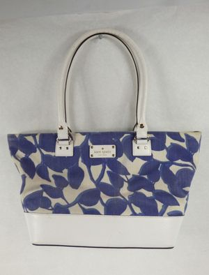 Kate Spade Wellesley Leaves Fabric & Leather Trim Tote PREOWNED 1 LEFT BUY NOW for Sale in Decatur, GA