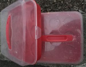2 Cupcake travel/storage containers for Sale in Billerica, MA