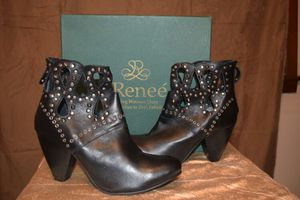 Black leather boots with studs by j Renee great looking new boots for Sale in NC, US