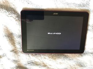 Acer iconiatab tablet (FOR PARTS) for Sale in Chicago, IL