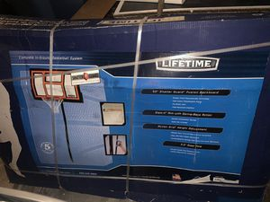 Lifetime 50inch basketball hoop * cement* for Sale in Los Angeles, CA