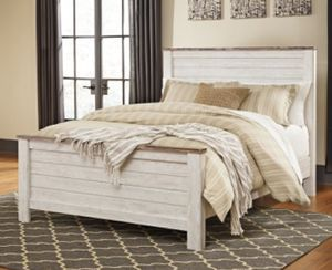 Signature Design by Ashley Willowton Panel Bed Also included free mattress and box spring for Sale in Lawrenceville, GA