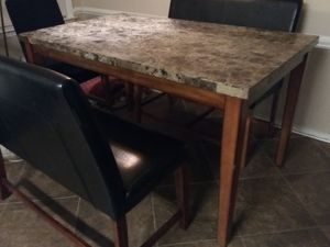 Granite-Top Kitchen Table for Sale in Clayton, NC
