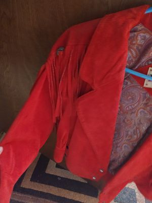 Red suede jacket with fringes for Sale in Aurora, CO