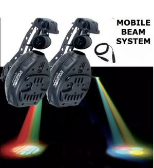ADJ mobile beam system 2 scanners-controller-dmx cable for Sale in Riverside, CA