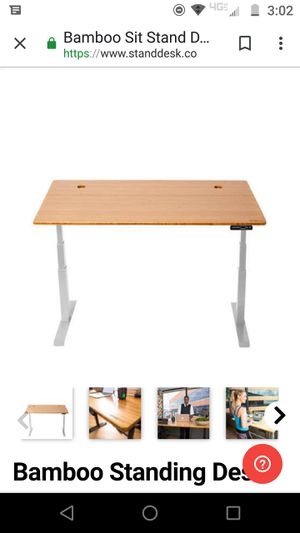 """Like New """"Stand Desk."""" Bamboo top sit/stand desk. Motorized for Sale in Oakland, CA"""