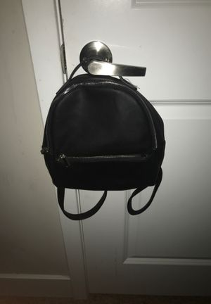 Black leather mini backpack for Sale in Mt. Juliet, TN