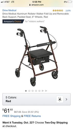 Drive aluminum rolling walker that folds up. for Sale in Henderson, KY