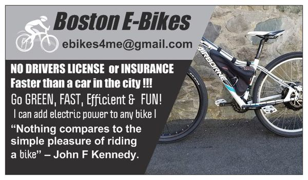 Stonewall Ebikes - Custom Built Electric Bicycles & Boston E-Bikes now servicing all of New England