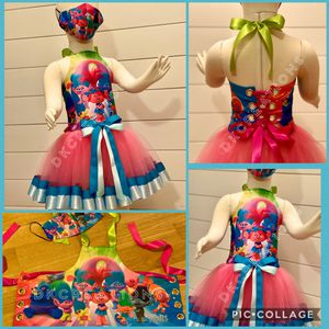 Trolls birthday outfit / tutu for Sale in Spring, TX