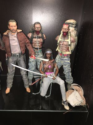 Set of 4 threezero walking dead figures hot toys sideshow 1/6 for Sale in Pompano Beach, FL