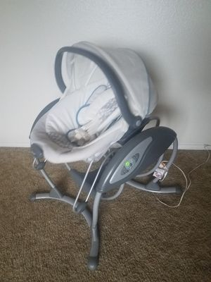ac plug in adapter glider*music speed timer settings swing*detachable multiple positon vibrating bouncer seat*carrying handle*body head protectors for Sale in Buckeye, AZ