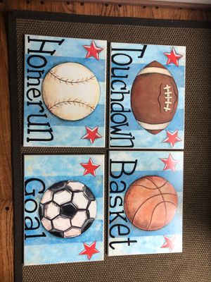 Sports Wall Decor on wooden panels for Sale in North Bethesda, MD