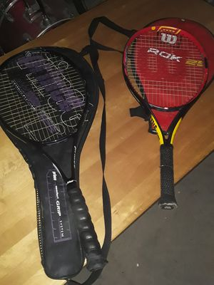 2 tennis rackets with cases for Sale in Sound Beach, NY