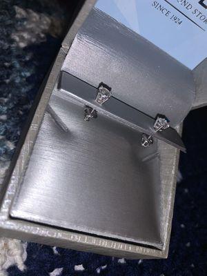 .72 ct. diamond earrings set in 14k white gold.. screw backs. for Sale in Pawtucket, RI