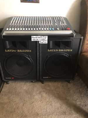 P.A.System, Allen&Heath with speakers an speakers wires, Excellant Condition for Sale in Clovis, CA