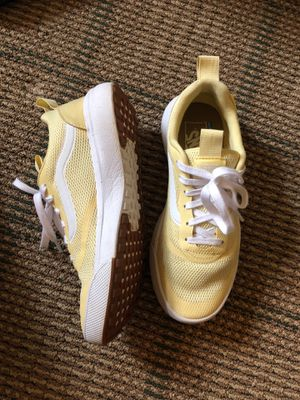 Women yellow ultra range vans shoes for Sale in Frederick, MD