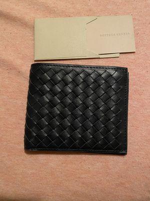 Bottega Veneta Men's Intercciaco Black Leather Woven Bifold Wallet 148324 4130 for Sale in Pasco, WA