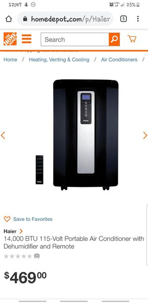 Haier ac and humidifier with remote for Sale in San Bernardino, CA