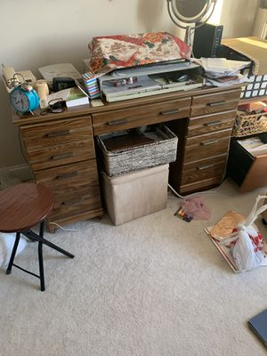 ANTIQUE DESK. WITH 5 DRAWERS. for Sale in Arlington, VA