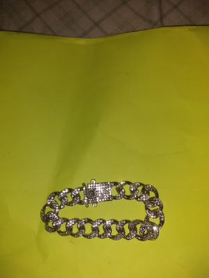 Silver iced out bracelet for Sale in Huntington, IN
